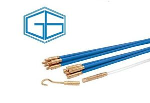 Draper 45274 - Cable Access Rod Kit - 10 x 1m Rods & Accessory Puller Kit