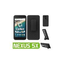 For Google Nexus 5X Shell Holster Kickstand Combo Case Cover w/ Spring Belt Clip