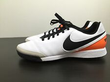 Nike Tiempo Genio Leather Turf Futsal Soccer Shoes Football Mens White Size 11.5