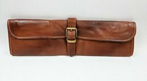 Boldric 8 Pockets One Buckle Leather Brown Knives Bag NEW