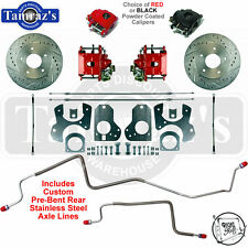 78-88 A/G 82-92 FBody REAR Disc Brake Kit CALIPER CHOICE DRILLED ROTORS SS LINES