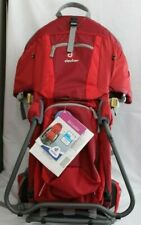Deuter Kid Comfort 2 Framed Child Carrier for Hiking Travel Cranberry Fire New