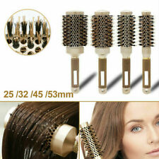 Professional Thermal Ceramic&Ionic Round Barrel Hair Brush with Boar Bristle US