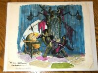 Wizards (1977) Gray Morrow original art Ralph Bakshi Blackwolf * cel animation