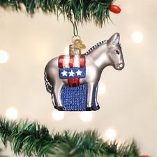 OLD WORLD CHRISTMAS DEMOCRATIC DONKEY POLITICAL GLASS CHRISTMAS ORNAMENT 12109