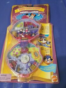 Rare Unopened Disney Tiny Collection Mickey & Minnie Playcase 1995 Polly Pockets