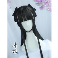 Lolita Chinese Ancient Custom Whole Hair Wig traditional Hairpiece Cosplay Props
