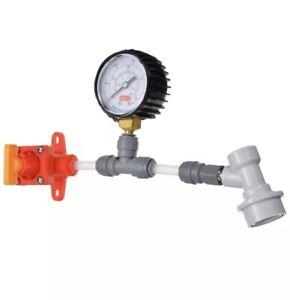 Kegland Blow Tie Spunding Valve Adjustable PRV 0-40 PSI Gauge Corny Ball Lock