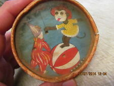 Vintage Two Sided Dexterity Puzzle / Game  Clown & Monkeys  Nice Toy!!  2 Sided