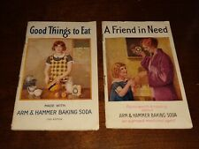1930 ARM HAMMER BAKING SODA Booklets Vintage A FRIEND IN NEED GOOD THINGS TO EAT