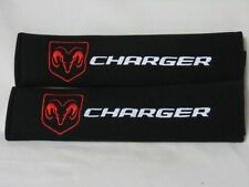 Dodge Charger Pair of Seat Belt Cover Shoulder Pad Embroidery LOOK!