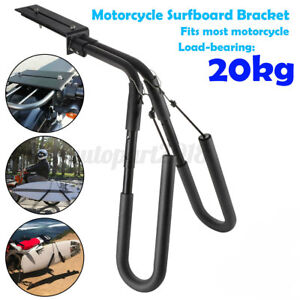 Adjustable Motorcycle Surfboard Bracket Bike Surfing Carrier Mount To Seat Post