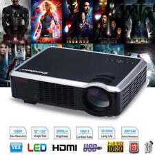 2600 Lumens LED 3D HD Projector 33-02 Cinema Theater PC&Laptop AV/VGA/HDMI/USB