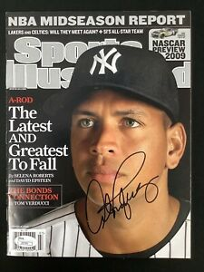 Alex Rodriguez Signed Sports Illustrated 2/15/09 No Label Baseball NYY Auto JSA