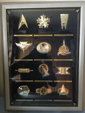 Star Trek Insignia .925 Sterling Silver Series With Display Franklin Mint 1992