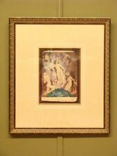 "LARGE GILT FRAMED PRINT BY NORMAN LINDSAY ""THE DEAR THINGS""  94cm x 82cm (frame)"