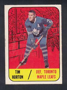 1967-68 TOPPS HOCKEY CARD #16 T. HORTON