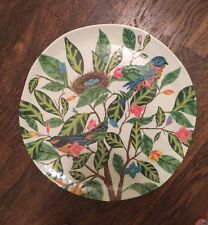 Pottery Barn Evie Melamine Serving Platter Outdoor  NEW Sold Out Bird Floral