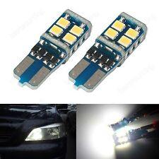 1 Pair No Error T10 501 168 Wedge 11 SMD LED License Number Plate Light DRL 12V