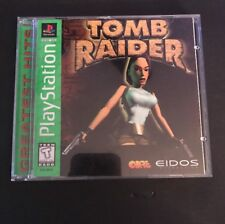 Tomb Raider (Sony PlayStation 1, 1996) Black Label - Good Condition!