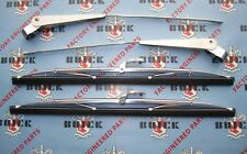 1954-1956 Buick Windshield Wiper Arms & Blades | Matched Pair | Stainless Steel