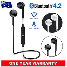Wireless Bluetooth 4.2 Headset Earphone Sport Headphone Mic for iPhone Samsung