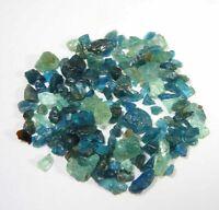 Natural Neon Blue Apatite Scoop Small Rough Lot 94.10Carat Loose Gemstone