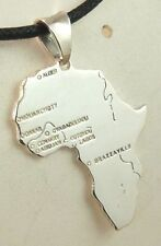 CIONDOLO AFRICA BIG IN ARGENTO 925 STERLING SILVER AFRICA PENDANT