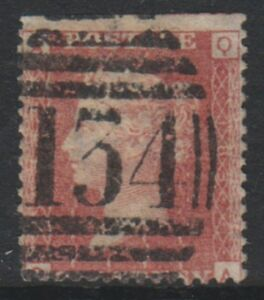 Great Britain/GB - 1858, 1d Penny Red - Letters QA - Plate 183 - Used- SG 43 (c)