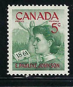 CANADA - SCOTT 392 - VFNH - PAULINE JOHNSON - 1961