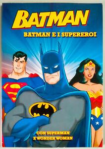 Batman e i supereroi. Batman con Superman e Wonderwoman Fumetto come foto N