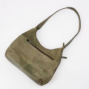 Vintage Tignanello Handbags Womens Medium Hobo Khaki Green Lined Inner Pockets
