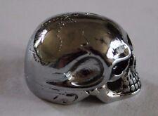 Potiknopf Jumbo Skull Totenkopf 6 & 6,3 mm  Q-parts Metall Hammeroptik Knopf