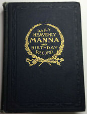 DAILY HEAVENLY MANNA 1907 WATCHTOWER IBSA  CHARLES RUSSELL  JEHOVAH ORIGINA