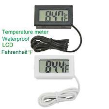 Digital Lcd Thermometer Aquarium Fish Tank Water Temperature Meter Fahrenheit ℉