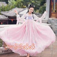 Hanfu Women's Dress Ancient Costume Pink Tops Skirt Cosplay Chest Skirt Dress