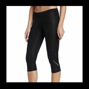 Pearl Izumi W Aurora Splice knicker 3/4 tights black New athletic leggings sz M