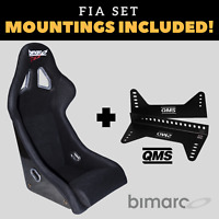 Bimarco Dakar FIA Racing Seat BLACK VELOUR Set with Bracket Mountings Included!