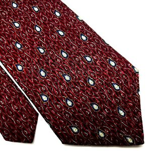 Nautica Silk Tie Red Paisley Abstract Wide
