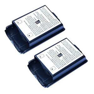 2X Black Battery Cover for Microsoft Wireless Controller For Xbox 360 Xbox 360