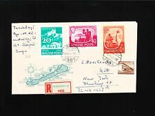TWO Hungary Registered Covers Budapest to Flushing New York Backstamps 6z