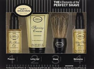 The Art of Shaving Starter Kit Unscented The Perfect After Shave Oil Cream Balm