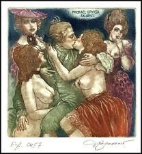 David Bekker Exlibris C4 Erotic Erotik Nude Nudo Woman Sex d24
