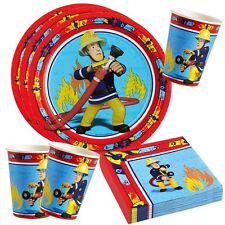 Fireman Sam - Party Birthday Set Plates Cups Napkins Party Dishes