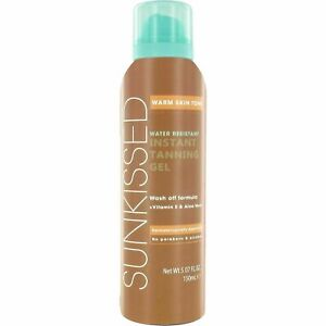 3 X 150ML Sunkissed Instant Tanning Gel Warm Skin Tone  Water Resistant