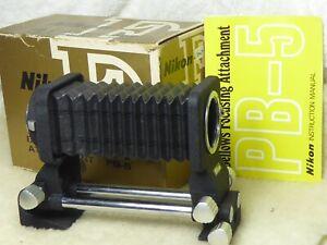 Nikon Bellows unit PB5  TESTED Working fine. pb - 5 + instructions