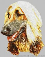 Embroidered Short-Sleeved T-shirt - Afghan Hound Dle1455 Sizes S - Xxl