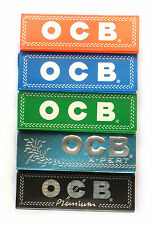 5 booklets - OCB 5 different single wide Rolling paper 36 x 69mm - 250 papers