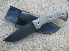 BUSSE Combat BAE2 Badger Attack Ergo 2 Knife Custom Molded Leather Sheath BLACK