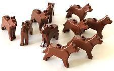 *NEW* 10 Pieces Lego REDDISH BROWN Police Dog WOLF 48812